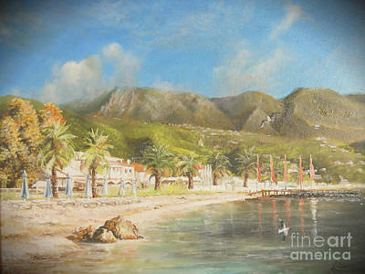 Painting - The Beach Of Ipsos by Sorin Apostolescu