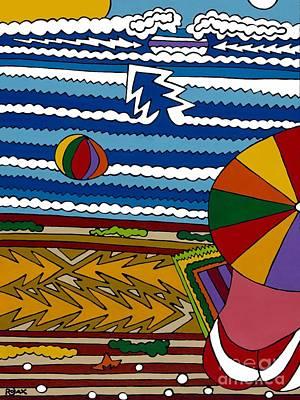 Painting - The Beach by Rojax Art