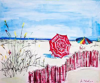The Beach Print by Shelia Gallaher Chancey