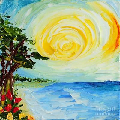 Painting - The Beach by Teresa Wegrzyn