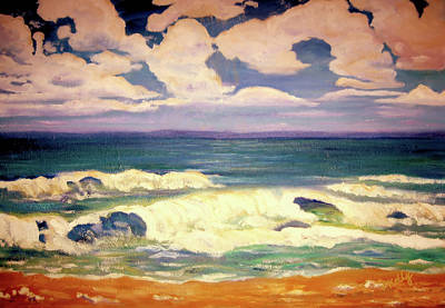 Painting - The Beach-seascape By V.kelly by Valerie Anne Kelly