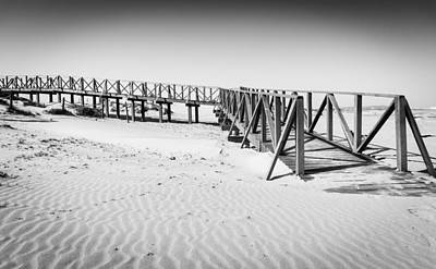 Photograph - The Beach Walkway. by Gary Gillette