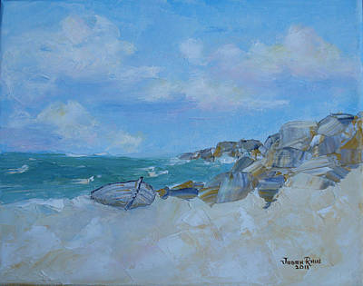 Painting - The Beached Boat by Judith Rhue