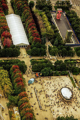 The Bean Photograph - The Bean From Above by Andrew Soundarajan