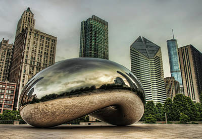Grey Clouds Photograph - The Bean In The City by Noah Katz
