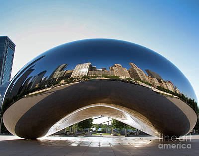 The Bean's Early Morning Reflections Art Print