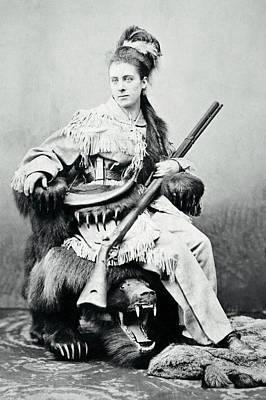 Huntress Photograph - The Bear Hunter C. 1890 by Daniel Hagerman