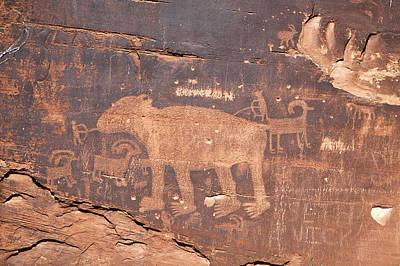 Photograph - The Bear Petroglyph by Steve Stuller