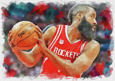 Athletes Royalty-Free and Rights-Managed Images - The Beard by Ricky Barnard