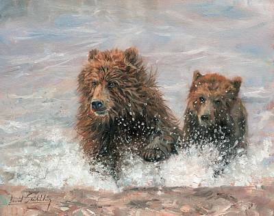 The Bears Are Coming Original by David Stribbling