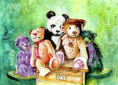 Yorkshire Drawing - The Bears From The Yorkshire Moor 03 by Miki De Goodaboom