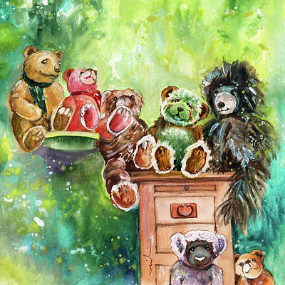 Yorkshire Drawing - The Bears From The Yorkshire Moor by Miki De Goodaboom