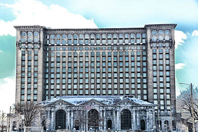 Photograph - Detroit Train Station by Randy J Heath