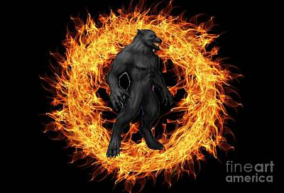 The Beast Emerges From The Ring Of Fire Art Print