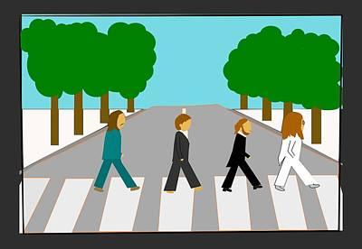 The Beatles - Abbey Road  Art Print by Theodoros Gatsios