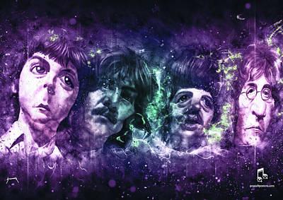 Paulmccartney Digital Art - The Beatles by Abraham Szomor