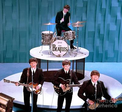 Ringo Photograph - The Beatles American Debut On The Ed Sullivan Show by The Titanic Project