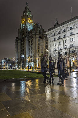 Mccartney Photograph - The Beatles And The Liver Building by Paul Madden