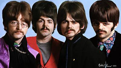 Fab Four Photograph - The Beatles Big Hair 1 by Nicholas Romano