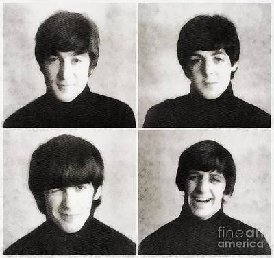 Musicians Royalty Free Images - The Beatles by John Springfield Royalty-Free Image by John Springfield