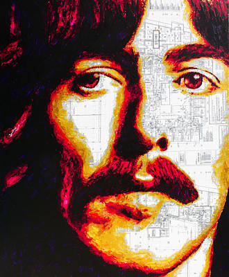 Painting - The Beatles George Harrison by Havi