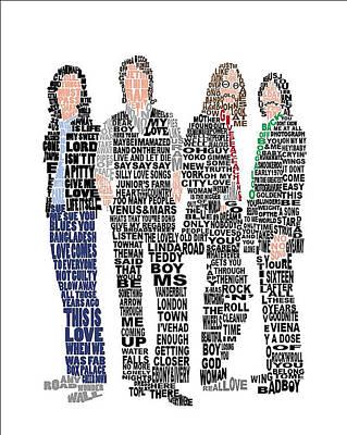 Paulmccartney Painting - The Beatles  by Gradea Lappin