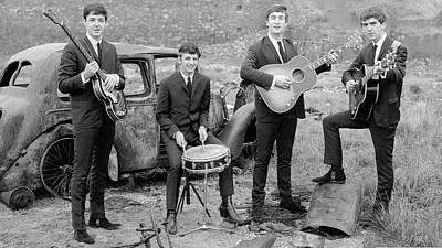 Ringo Photograph - The Beatles by Hans Wolfgang Muller Leg