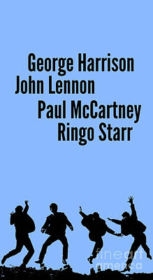 Mccartney Digital Art - The Beatles John Lennon, Paul Mccartney, George Harrison And Ringo Starr by Pablo Franchi