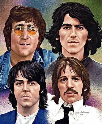 Mccartney Drawing - The Beatles by Judy Skaltsounis