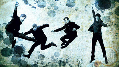 Mccartney Mixed Media - The Beatles Jump by Pablo Franchi