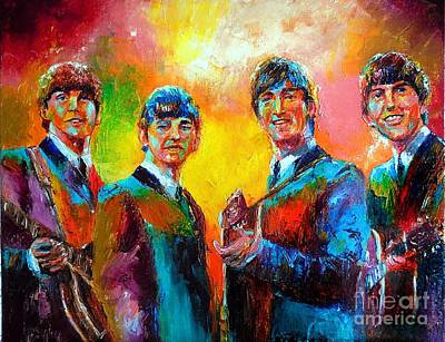 The Beatles Art Print by Leland Castro