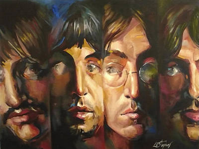 Fab Four Painting - The Beatles by Lorna Stephens