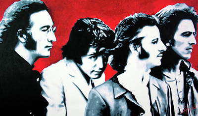 Pepper Painting - The Beatles by Luis Ludzska