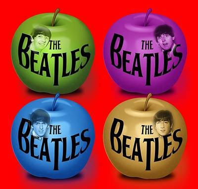 Fab Four Digital Art - The Beatles by Mal Bray