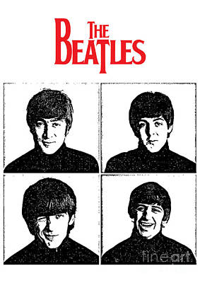 Famous Artist Digital Art - The Beatles No.12 by Caio Caldas