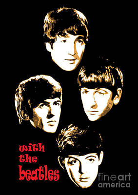 Rock N Roll Digital Art - The Beatles No.20 by Caio Caldas