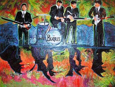 Painting - The Beatles by Ottoniel Lima