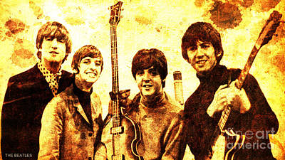 Mccartney Drawing - The Beatles by Pablo Franchi