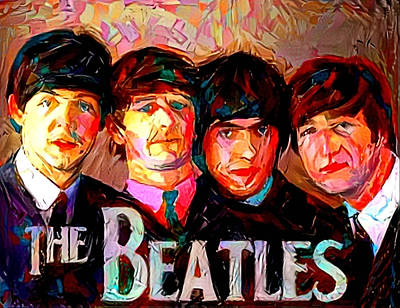 Painting - The Beatles by Paul Van Scott