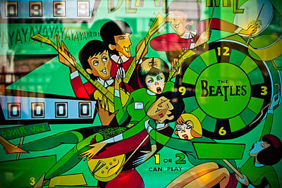Photograph - The Beatles - Pinball Art by Colleen Kammerer