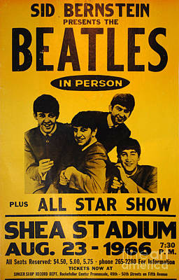 Photograph - The Beatles Poster Collection 7 by Bob Christopher