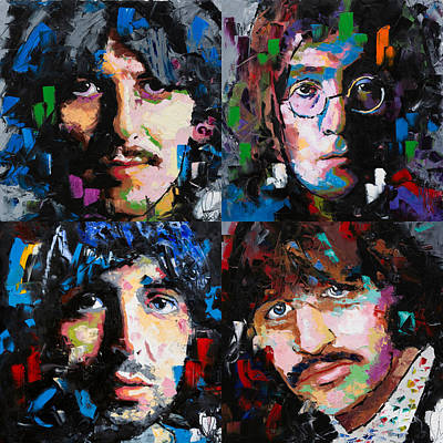 Painting - The Beatles by Richard Day