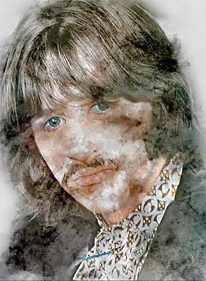 Mixed Media - The Beatles Ringo Starr by Marvin Blaine