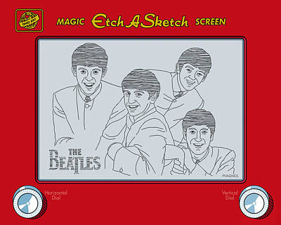 Sixties Digital Art - The Beatles by Ron Magnes
