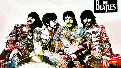 George Harrison Art Drawing - The Beatles--sargent Peppers Lonely Hearts Club Band by Ian Gledhill