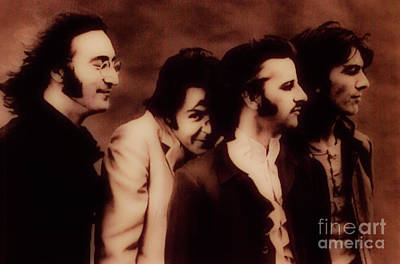 Mccartney Photograph - The Beatles - The Fab Four by Al Bourassa