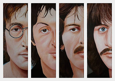 Painting - The Beatles by Vic Ritchey