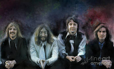 The Beatles. When I'm 64 Art Print by Mark Tonelli