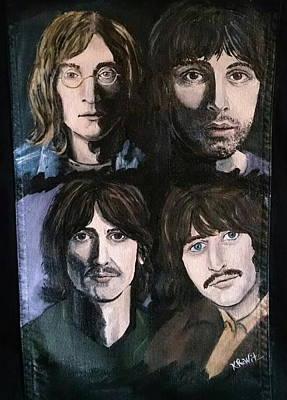 Fab Four Painting - The Beatles White Album by Kimberly Witz
