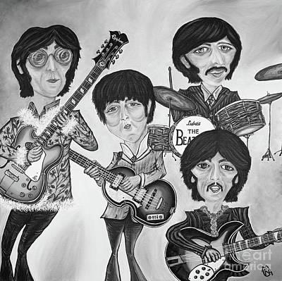 Paul Macartney Painting - The Beatles II by Nicolette Maw